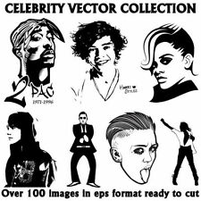 Celebrity Vector Image Collection Eps,Clipart,Vinyl Plotter.