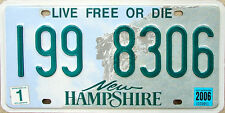 New Hampshire OLD MAN IN THE MOUNTAIN License Plate