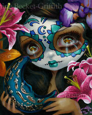 Milagros La Luna Jasmine Becket-Griffith CANVAS PRINT Day of the Dead gothic art