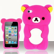 PINK TEDDY BEAR SOFT SILICONE CASE COVER FOR APPLE iPOD iTOUCH 4 , 4G