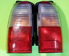 OEM Toyota 4Runner Tail Light Pair Genuine 96 97 98 99 00 Red Clear Right Left
