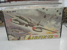 Airfix 1/72 M.E. 262 Military Airplane plastic model vintage Series 11-39 USA