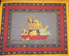Vintage Noah's Ark Animal Crackers & Cocoa Baby Blanket Quilt Finished Handmade