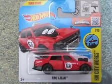 Hot Wheels 2016 #172/250 TIME ATTAXI red taxi HW City works Case K New Model