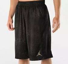 NIKE - Air Jordan Basketball Shorts - Black Animal Print with Gold Jumpman - MED