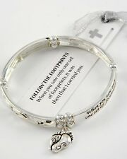 Bracelet, Follow the Footprints, I Carried You, Lord Religious Christian #219-C