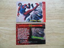 '96 SPIDER-MAN PREMIUM SCARLET SPIDER VS OVERRIDE CARD 47 SIGNED FRED HARPER ART