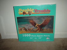 1000 PC. SUNSOUT (DOUBLE TROUBLE- BY ROBERTA WESLEY) JIGSAW PUZZLE (NEW-BOXWEAR)