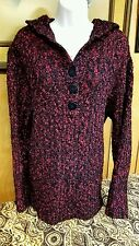 Women's Cable Knit Hooded Sweater Size XL Pullover Style Red Cabelas