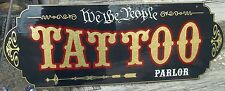 Old Fashioned, Vintage Custom TATTOO PARLOR SIGN Gold Leaf Your Name Very Nice