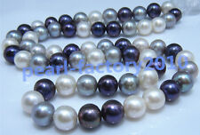 """17"""" AAA 9-10MM  NATURAL  PEARL NECKLACE 14K gold"""