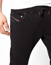 DIESEL TRAIN-THAVAR-C BLACK PANTS SIZE M 100% AUTHENTIC