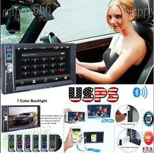 "7"" Double 2Din In Dash Car Stereo MP3 Player Touch Bluetooth Radio FM Aux Camera"