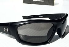 NEW* Under Armour POWER in Matte Black w Grey Lens Sunglasses! Run Bike