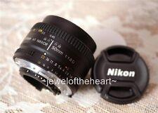 Nikon Nikkor 50mm 1.8 AF D Lens for D2 D3 D50 D70 D80 D90 D100 D200 D300 D700 +