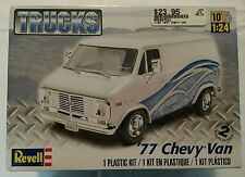 NEW SEALED Revell 1/24 Scale 1977 '77 Chevy Van Truck Plastic Model Kit #85-7221
