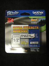 Brother P-Touch TZe-S231 Label Tape extra strength adhesiuve TZES231 TZS-231