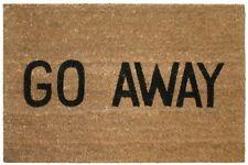 FUN Go Away Doormat Hallway Door Porch Welcome Clean Wet Boots Shoes Trailer