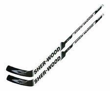 "2 Sherwood T70 composite goal stick left 24"" PP30 white new int hockey goalie"