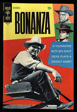 "Bonanza (1962) #36 1st Print Dan Blocker ""Hoss"" TV Photo Cover Great Art FN/VF"