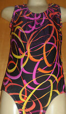 BLACK MICRODOT/MULTI COLOURED LYCRA/DANCE/GYMNASTIC/OUTFIT/4/5 YEAR/COSTUME
