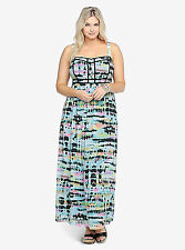 Sz 20 Torrid Tie-Dye Chiffon Maxi Full-Length Tank Dress Fully Lined Womens NWT