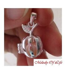 STERLING SILVER Pearl Cage Pendant - Apple Style Fun Gift Akoya Oyster For Sale