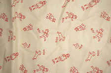 3 yd Tiny Tots Cotton Quilt Fabric Spelling Bee Vintage Workshop BFab