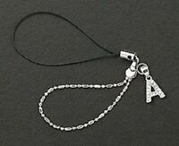 Letter A Crystals Cell Phone Charm For Mobile Phone New