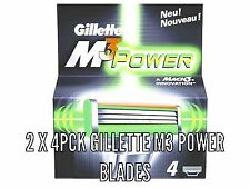8 X Gillette Mach3  Power Razor Blades - 2 X 4 Pck 100% Genuine, clearance stock