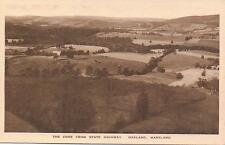 "VINTAGE POSTCARD, "" THE COVE FROM STATE HIGHWAY, OAKLAND, MARYLAND ""."