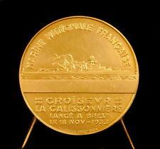 Médaille Croiseur Roland-Michel Barrin de La Galissonière Brest 1933 ship medal