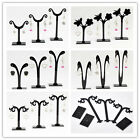 DIY 1 Set (3pcs) Black Acrylic Earring Jewelry Tree Shaped Display Stand Rack