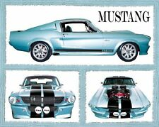 FORD MUSTANG POSTER - 16x20 - FABULOUS COLLAGE CLASSIC CAR 7163