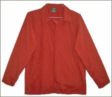 Men's OAKLEY Soft Wear red polyester long sleeve lined wind jacket - size M