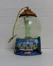 New York, Statue Of Liberty, 45mm Snow Globe Ornament, by Encore, BRAND NEW