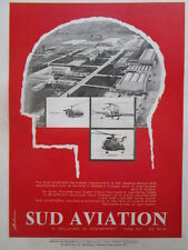 2/1965 PUB SUD AVIATION HELICOPTER ALOUETTE 2 3 SUPER FRELON ORIGINAL AD