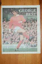 GEORGE BEST MANCHESTER UNITED 28/11/2005 THE BELFAST TELEGRAPH