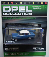 Opel coche modelo Collection nr 8 Opel Rekord p i 1/43 + cuaderno
