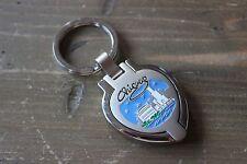 Chicago Skyline Flip Photo Holder Key Chain