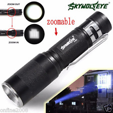 Super Bright 4000LM Zoomable CREE XM-L Q5 LED Flashlight 3 Mode Torch Light Lamp