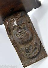 ETAGERE art populaire BOIS sculpté TÊTE de GROTESQUE XIXème