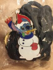 Disney Pin Stitch Bolo Lanyard Brand New Snowman Cast Member Exclusive