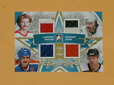 2010-11 ITG Decades All-Star Jersey Hockey Card Messier/Bourque/Langway/Howe 1/1