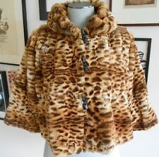 NWT Imposter Signature faux fur cropped jacket S $388 animal print Burning Man