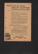 MEIßEN LOMMATZSCH, Prospekt 1937, Walter Jähnig Auto-Union Vertretung Büssing