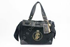 Juicy Couture Velour Daydreamer Black Shoulder Bag
