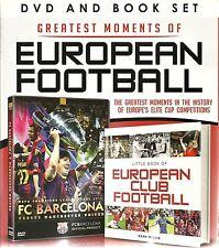 GREATEST MOMENTS OF EUROPEAN FOOTBALL DVD & BOOK GIFT SET BARCELONA v MAN UNITED