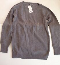Uniqlo Women's Gray Cashmere Blend Long Sweater Tunic - Large (New with tags)