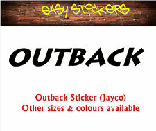 290mm Outback Jayco Caravan Sticker - Any Colour!